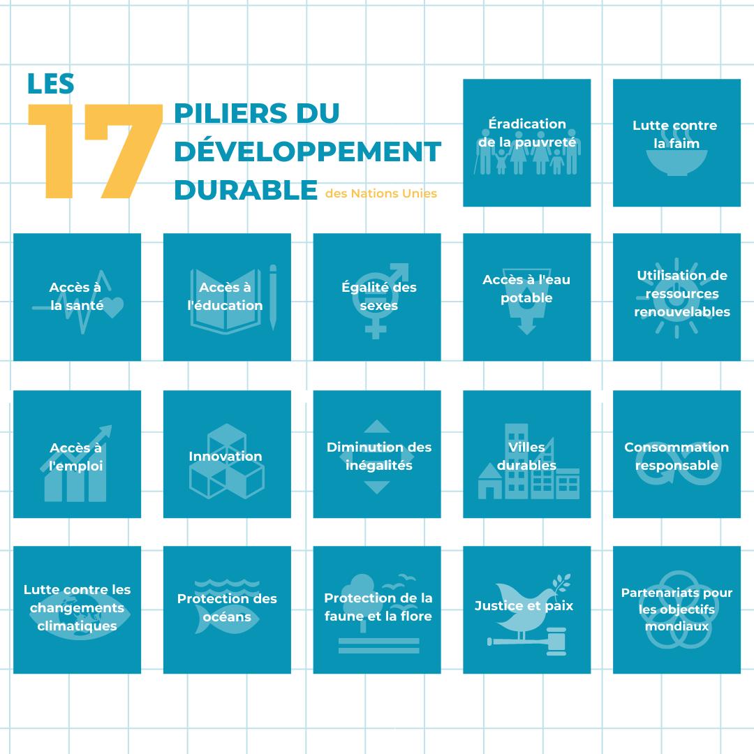 Les 17 pilliers du développement durable